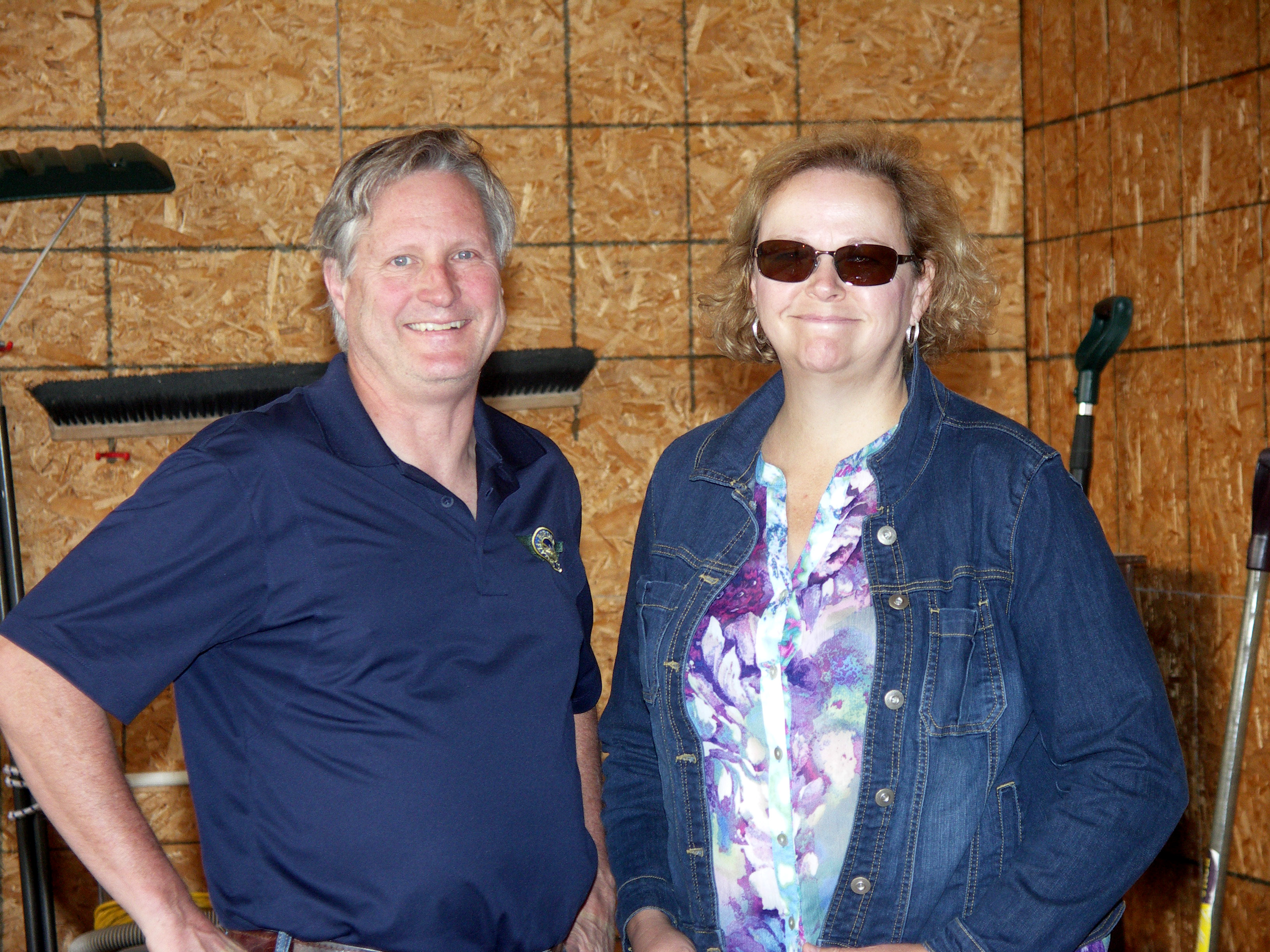 Paul and Kathy, longtime members.. thanks for coming out on a rainy day.