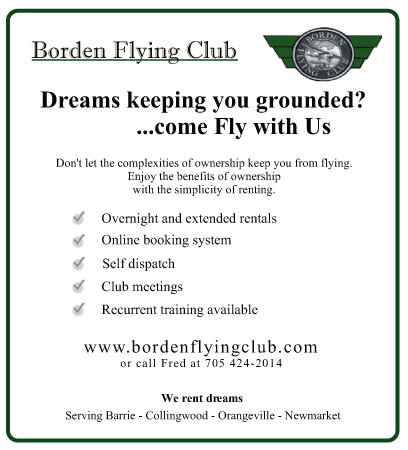 Dreams Keeping You Grounded ask us how to become a member of the Borden Flying Club